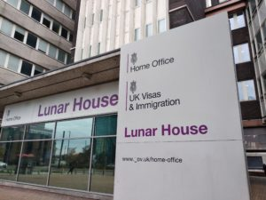 The Home Office's headquarters in Lunar House, Croydon.