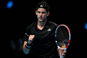 Dominic Thiem at the Nitto ATP World Tour Finals in The O2 in London
